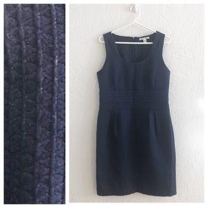 Banana Republic Textured Navy Sheath Dress 14